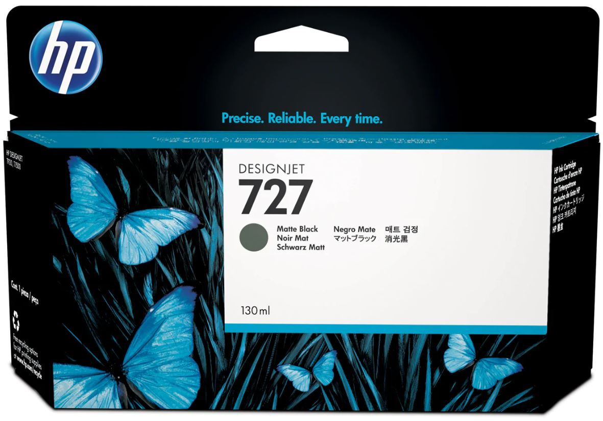 No. 727 130-ml Matte Black DesignJet Ink Cartridge