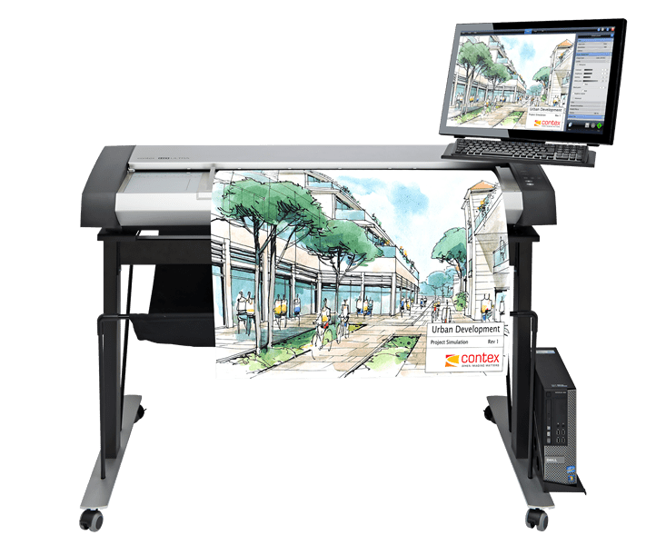 Contex ScanStation Pro MFP-ready Large Format Scanner Series (IQ Quattro 4450, 4490, HD Ultra X 4250, 4290, 6050, 6090)