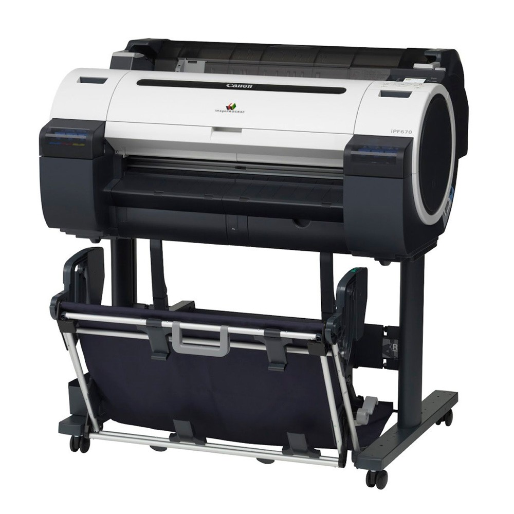 Canon imagePROGRAF iPF670 with stand and basket