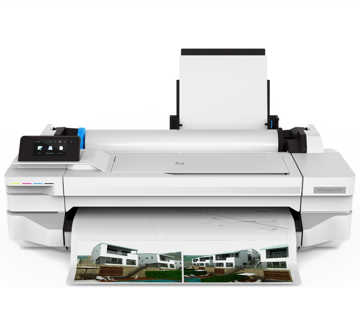 HP DesignJet T130 A1 Large Format Printer – with four rolls of paper 610mm x 50m included