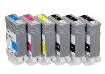 Canon Ink Bundle Pack of 6 Inks each 90ml for iPF670 or iPF770 Large Format Printer