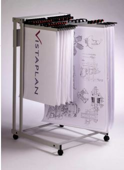 Vistaplan Mobile Display Trolley Carrier (1380 x 760 x 820mm)