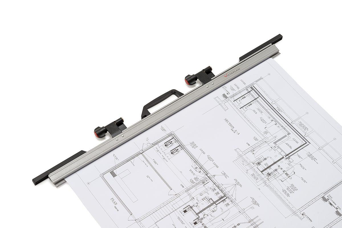 Vistaplan Drawing Hanger A0 – Paper clamp length 841mm sold per single item